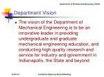 department vision