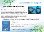 instruments for support