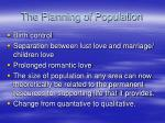 the planning of population