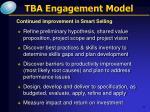 tba engagement model