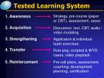 tested learning system