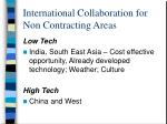 international collaboration for non contracting areas