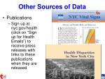 other sources of data1
