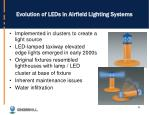 evolution of leds in airfield lighting systems