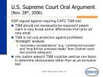 u s supreme court oral argument nov 28 th 2006