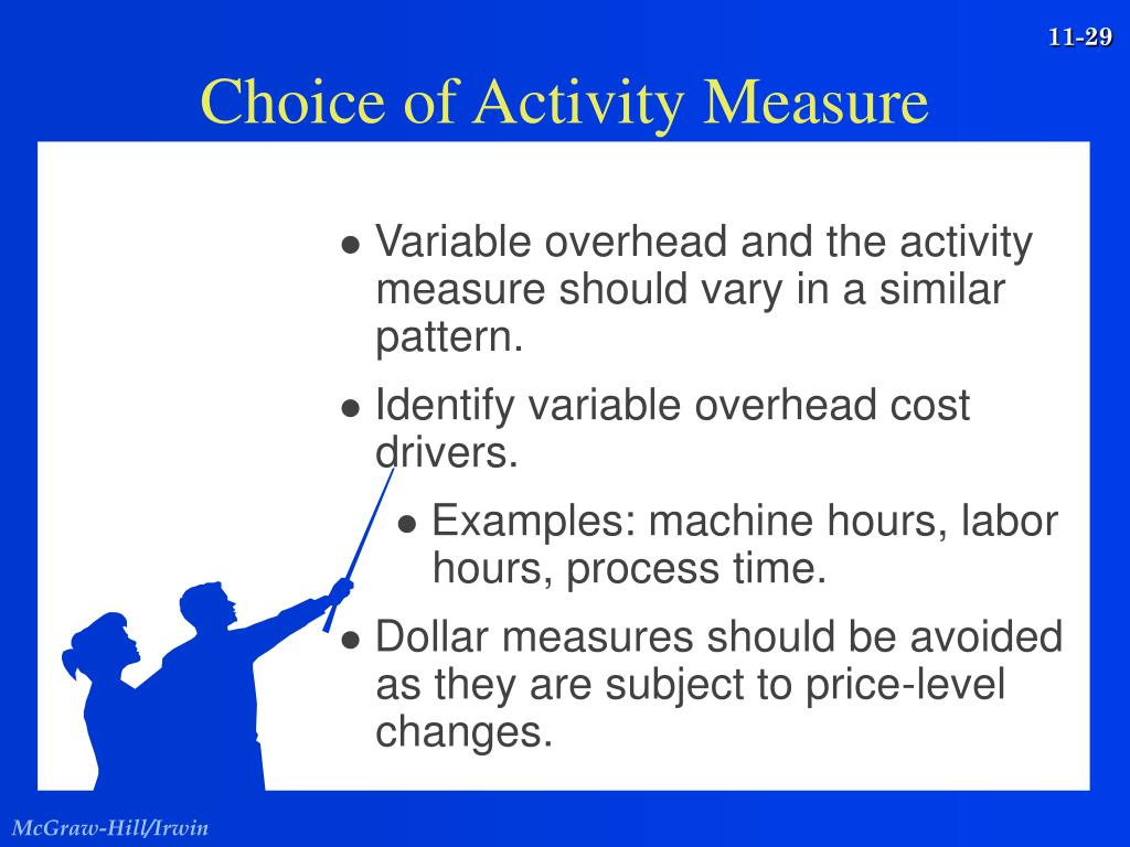 Variable overhead and the activity