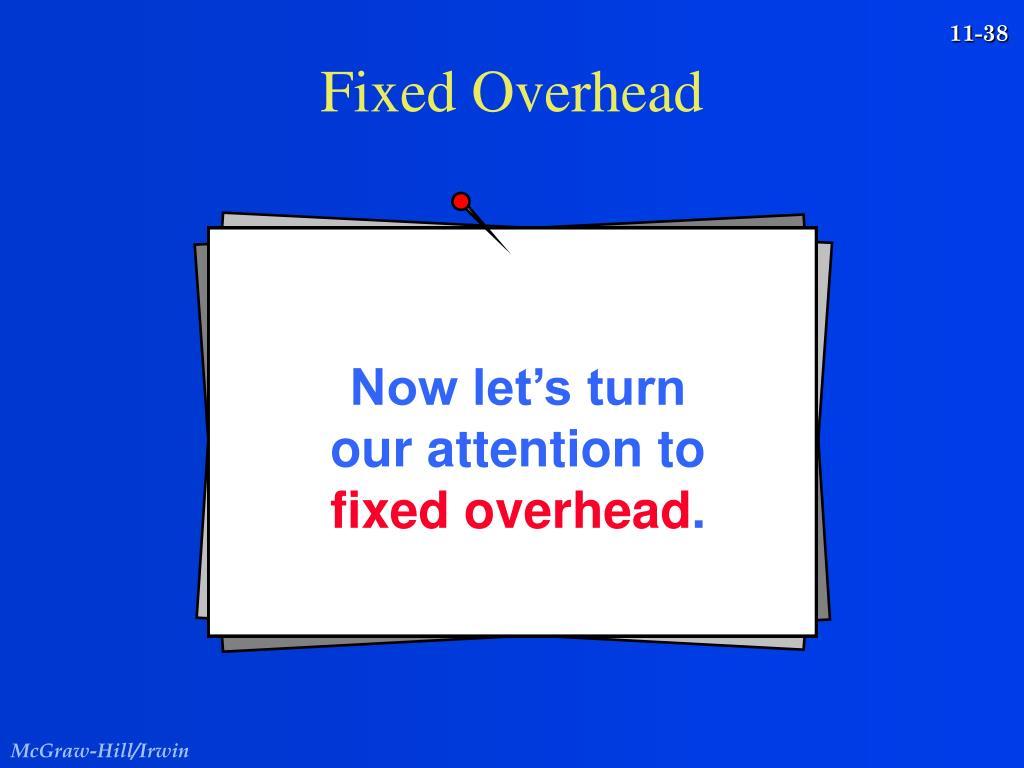 Fixed Overhead