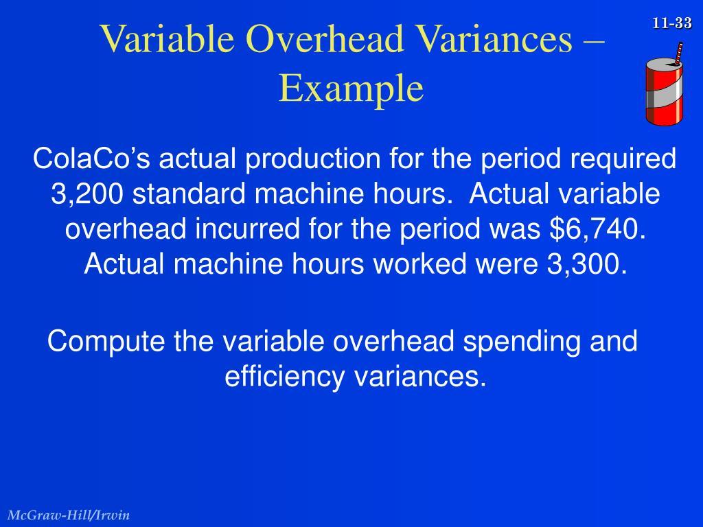 Variable Overhead Variances –