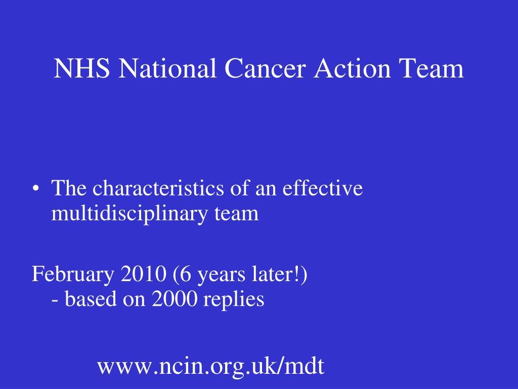 NHS National Cancer Action Team