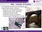 crd transfer of practice