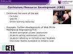curriculum resource development crd