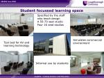 student focussed learning space