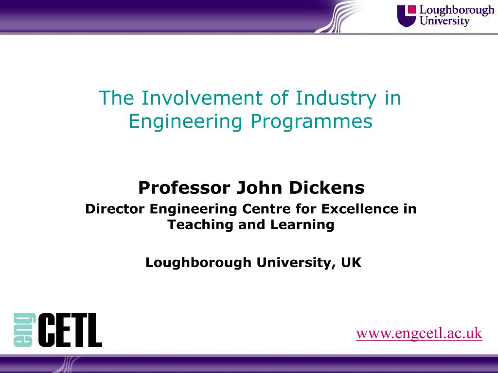 the involvement of industry in engineering programmes l.