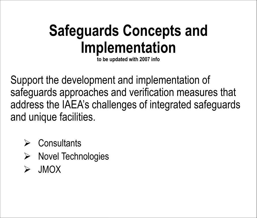Safeguards Concepts and Implementation