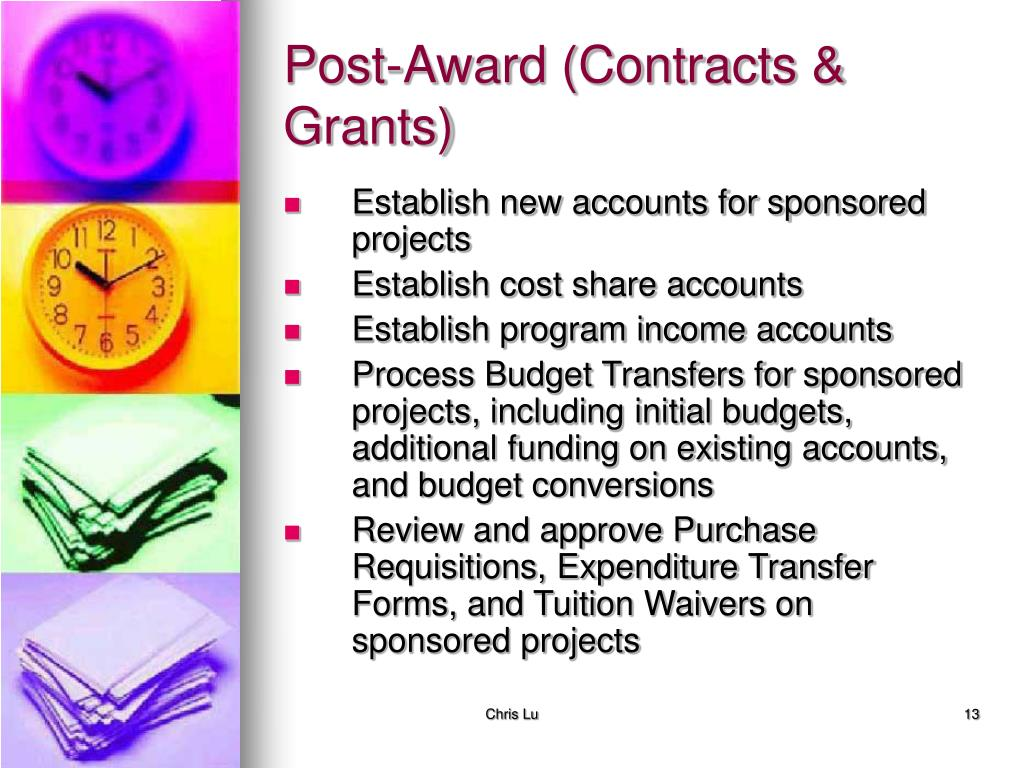 Post-Award (Contracts & Grants)