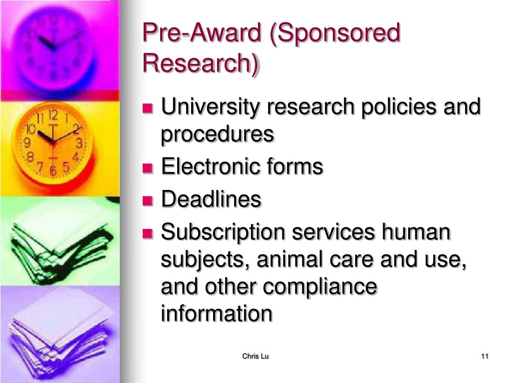Pre-Award (Sponsored Research)