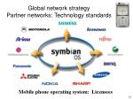 global network strategy partner networks technology standards
