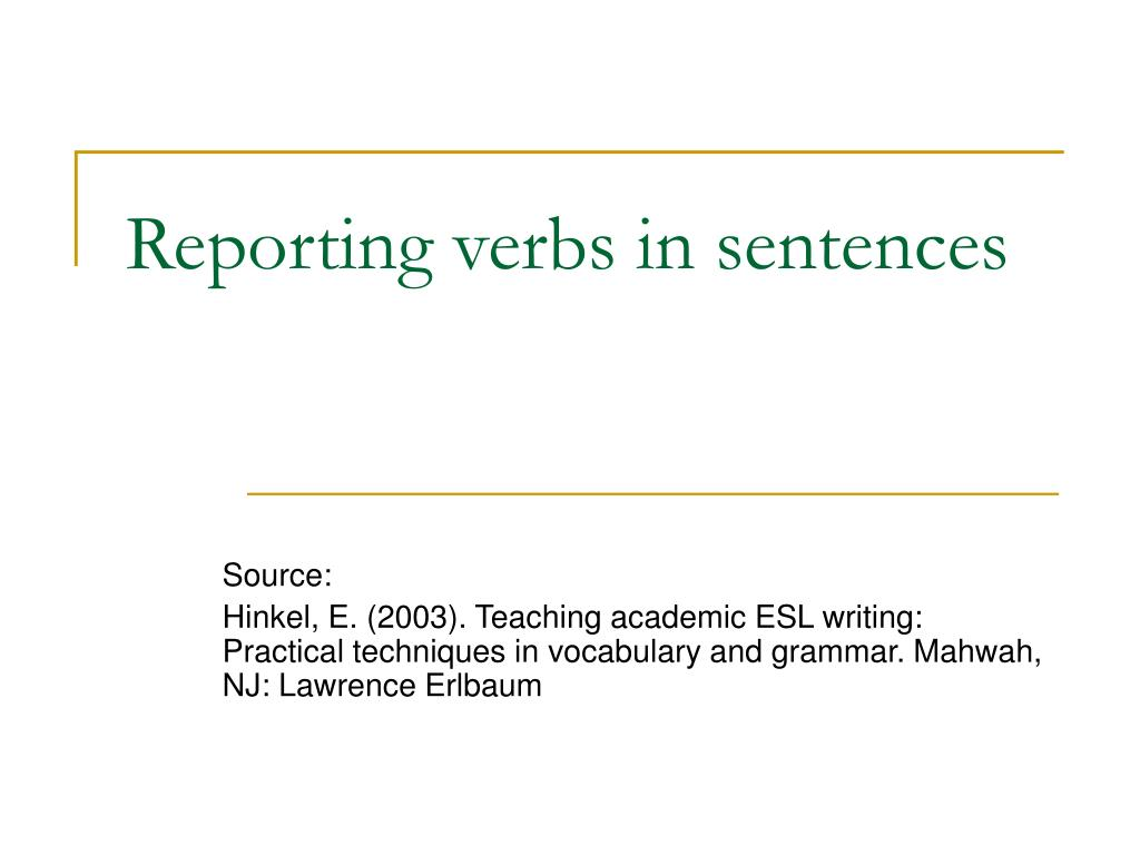Academic writing help for reporting verbs