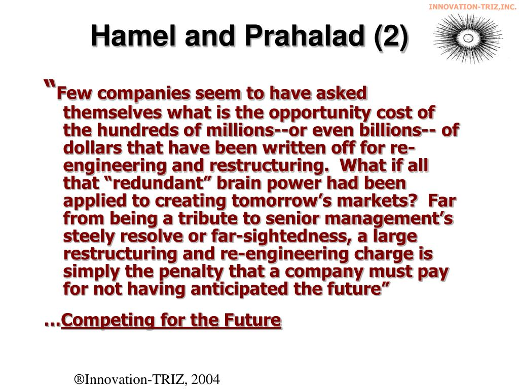 Hamel and Prahalad (2)