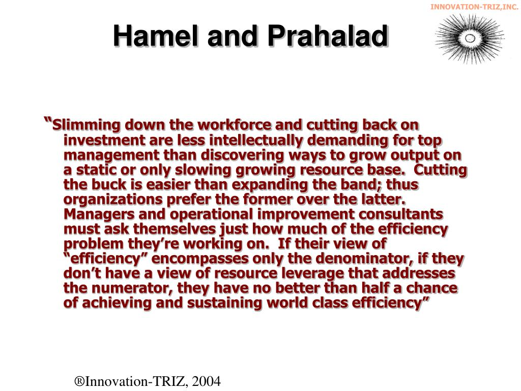 Hamel and Prahalad
