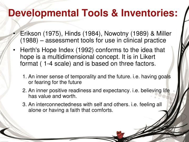 Developmental Tools & Inventories: