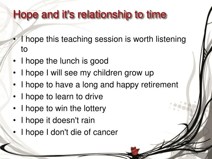 Hope and it's relationship to time