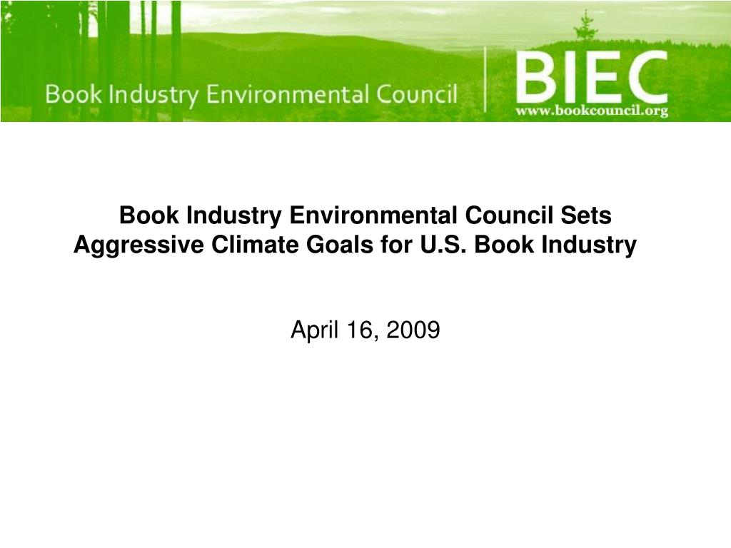 book industry environmental council sets aggressive climate goals for u s book industry l.