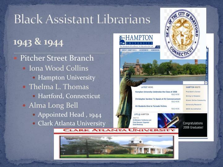 Black Assistant Librarians