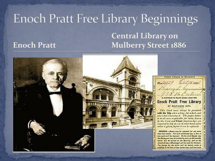 Enoch Pratt Free Library Beginnings
