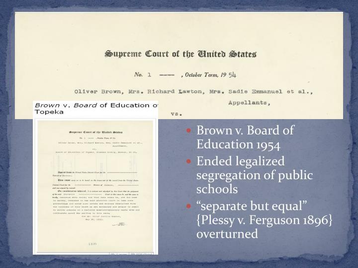 Brown v. Board of Education 1954