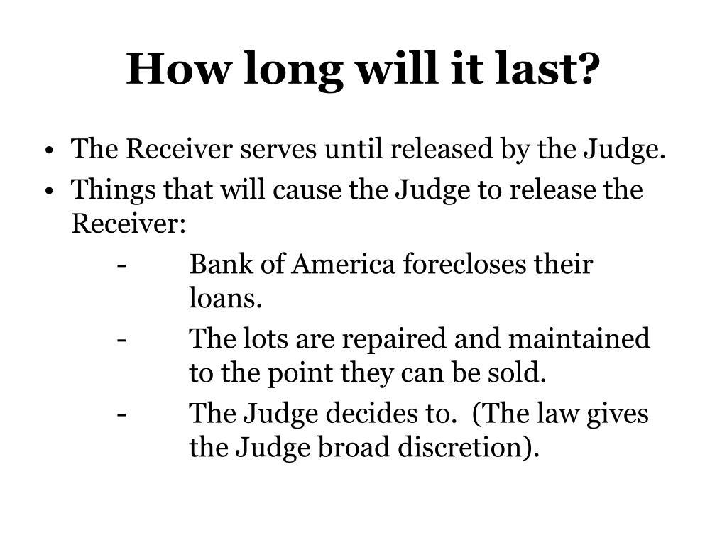 How long will it last?