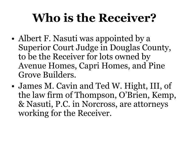 Who is the receiver