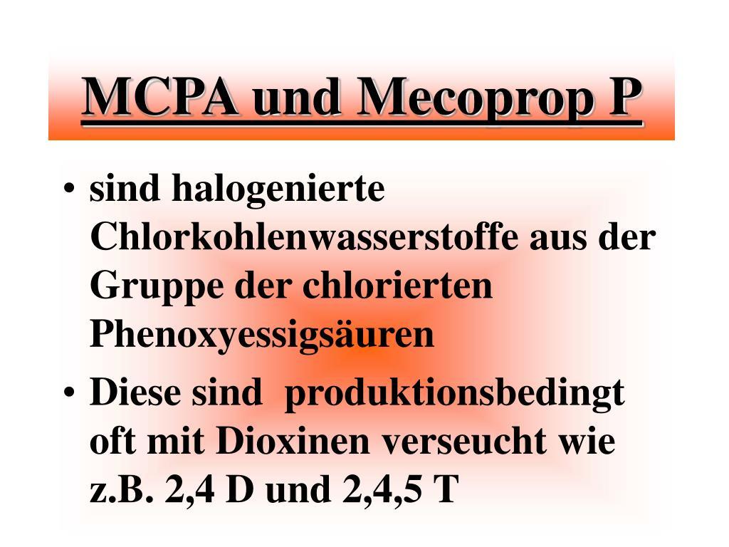 MCPA und Mecoprop P