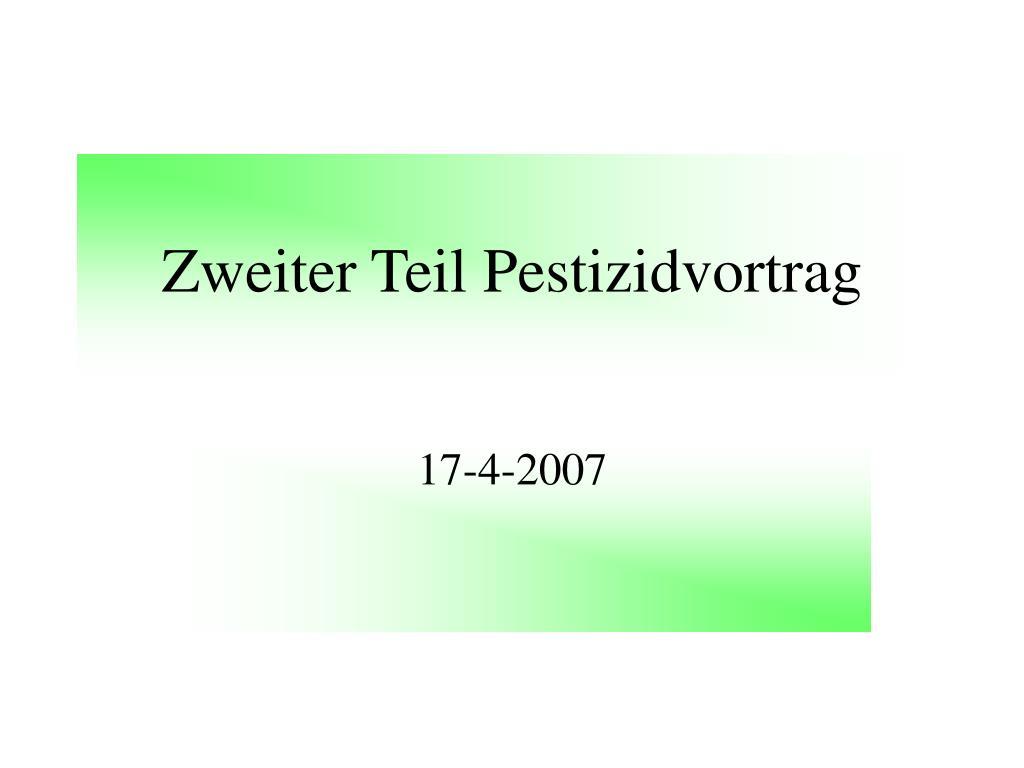 Zweiter Teil Pestizidvortrag