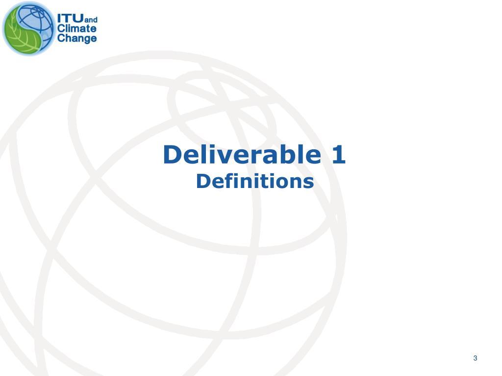 Deliverable 1