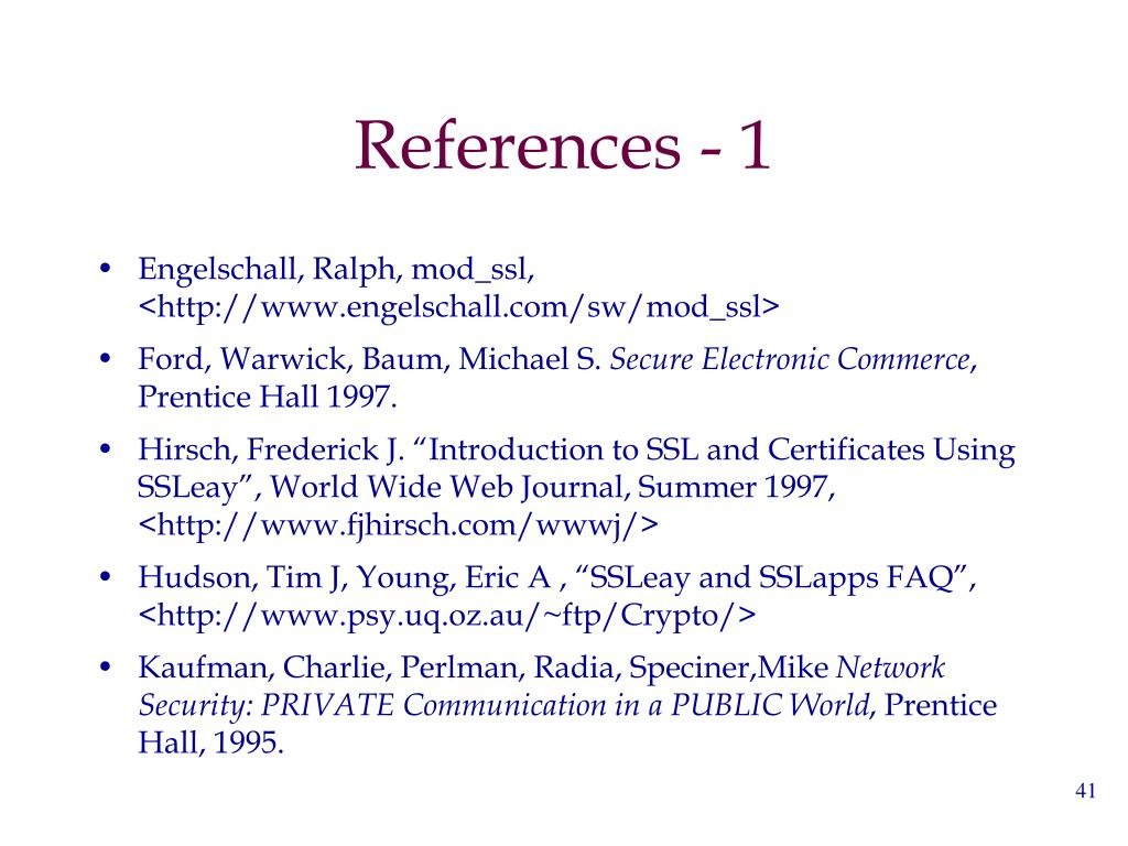 References - 1