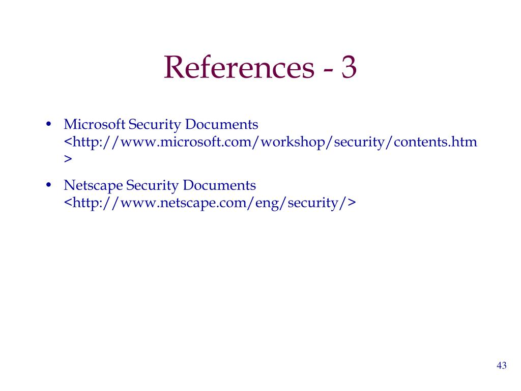 References - 3