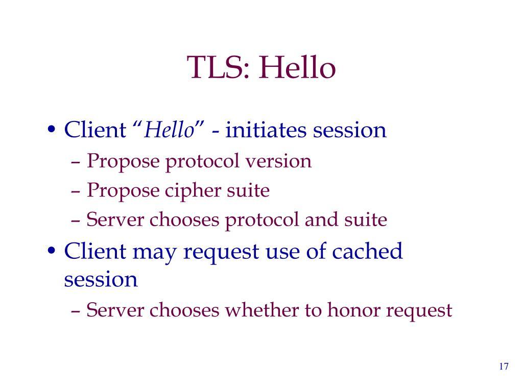 TLS: Hello