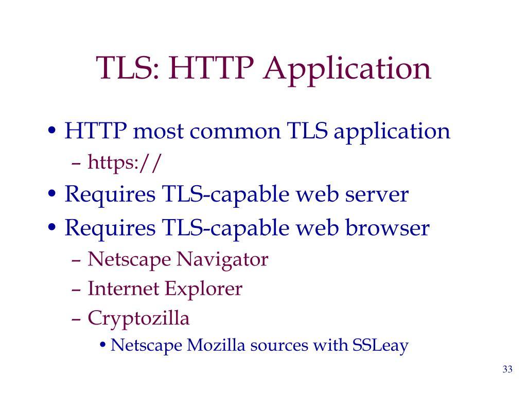 TLS: HTTP Application