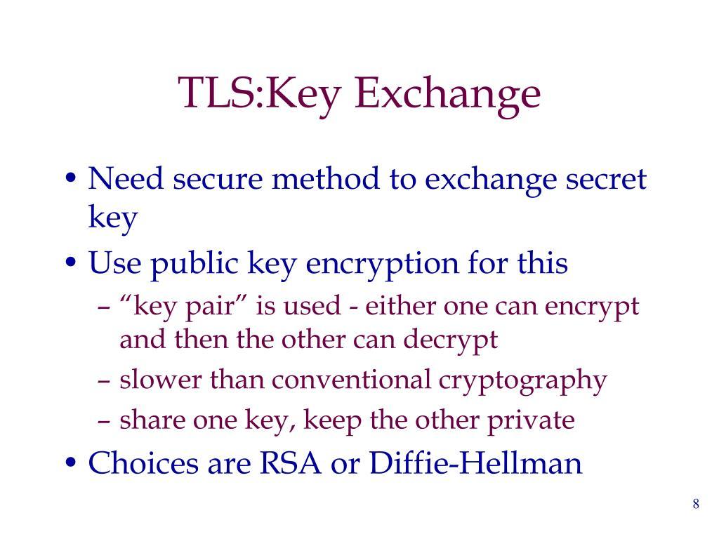 TLS:Key Exchange