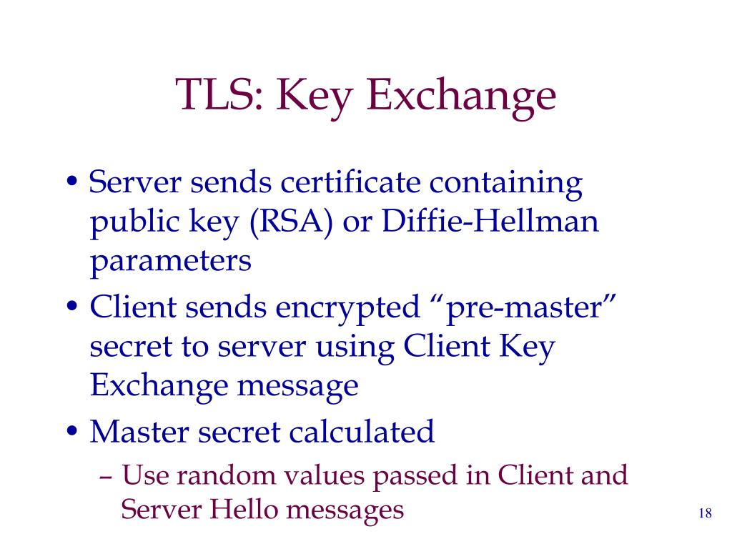 TLS: Key Exchange