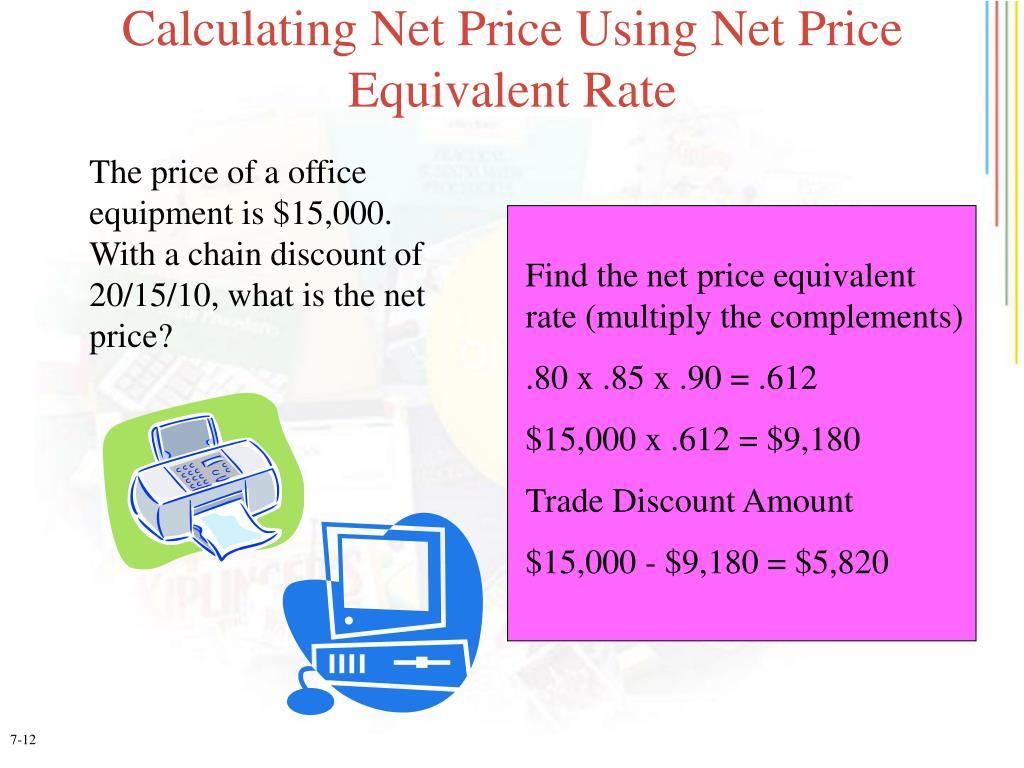 Calculating Net Price Using Net Price