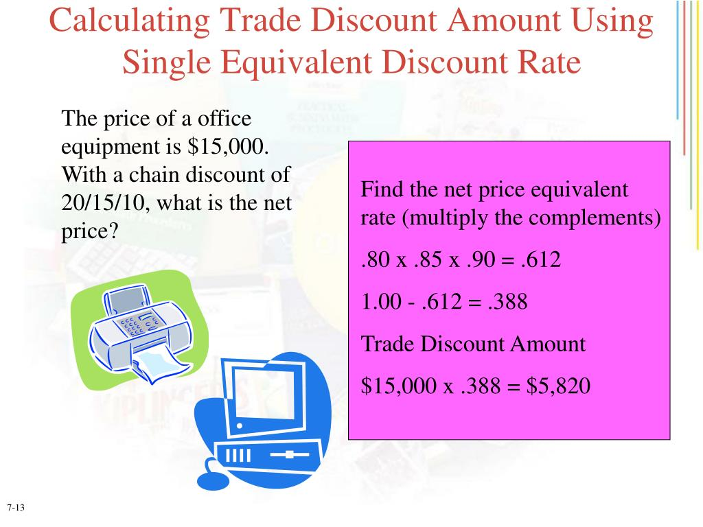 Calculating Trade Discount Amount Using Single Equivalent Discount Rate