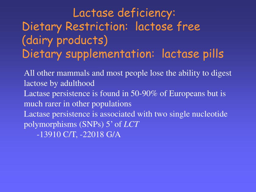 Lactase deficiency:
