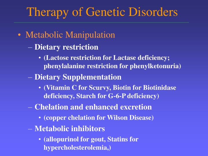 Therapy of genetic disorders3