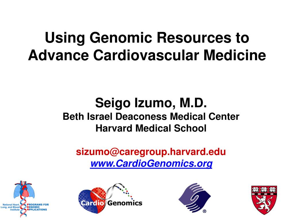 Using Genomic Resources to Advance Cardiovascular Medicine