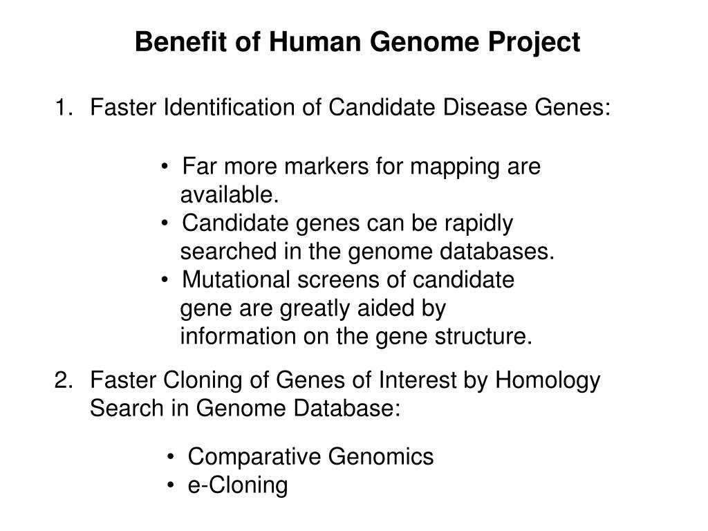 Benefit of Human Genome Project