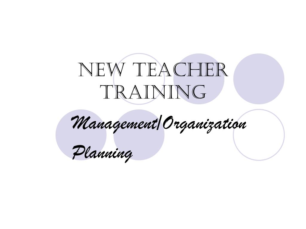 new teacher training l.