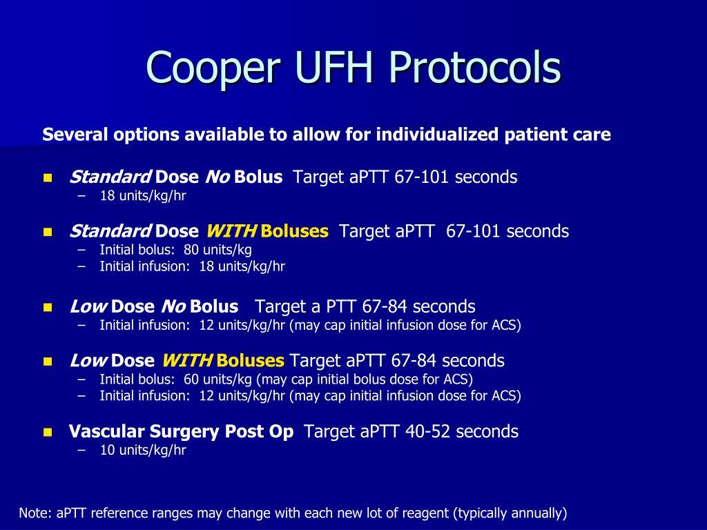 Cooper UFH Protocols