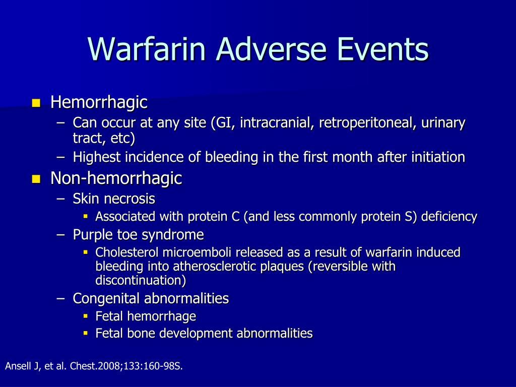 Warfarin Adverse Events